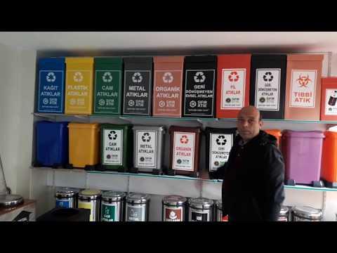 Sıfır Atık projesi Geri Dönüşmeyen Evsel Atıklar Kutusu Kolay Montajı