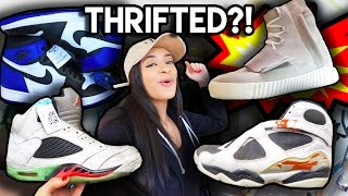 CRAZY THRIFT TRIP | FRAGMENTS AT MARSHALLS & YEEZY 750's AT THE THRIFT?! + Jordans, Kobes, Lebrons