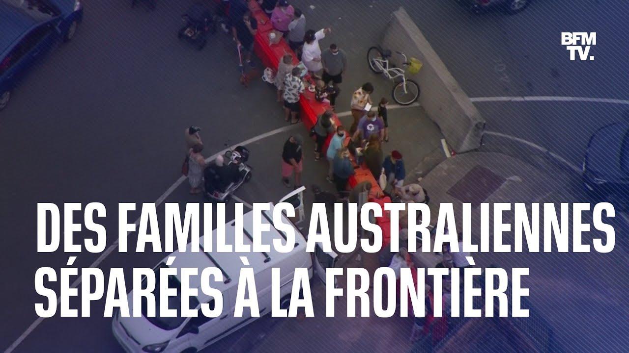 Des familles australiennes séparées par une frontière ont célébré la fête des pères