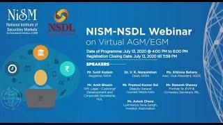 Part 1 NISM-NSDL Webinar on Virtual AGM/EGM