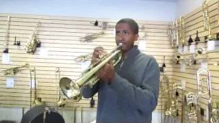 Quincy Garner playing an Olds Mendez at B.A.C. Horn Doctor in Kansas