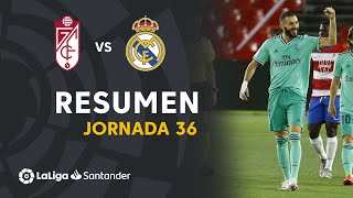 Resumen de Granada CF vs Real Madrid (1-2)