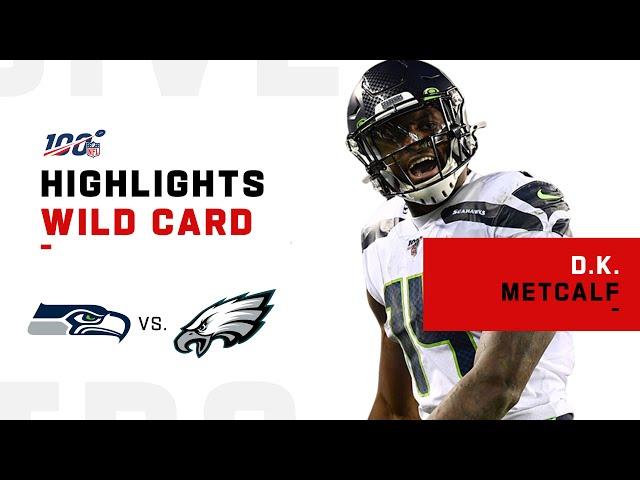 D.K. Metcalf Sets Postseason Rookie Debut Record w/ 160 Receiving Yds | NFL 2019 Highlights