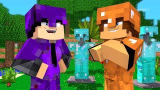 FIZ ARMADURA MAIS FORTE QUE A DO NOFAXU E DESAFIEI ELE!!!  -Minecraft Infinito #05