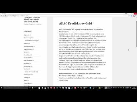 ADAC Kreditkarte Gold