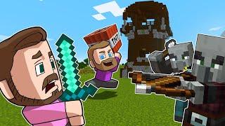 Raiding A Pillager Tower!   Minecraft