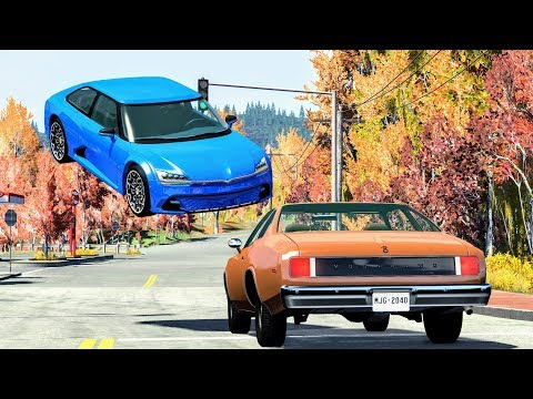 High Speed Traffic Crashes #34 - BeamNG Drive | CrashBoomPunk