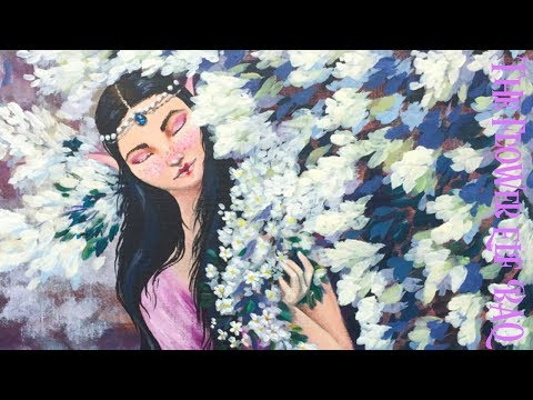 The Flower Elf Acrylic Painting on Canvas Fairy Tale part 1