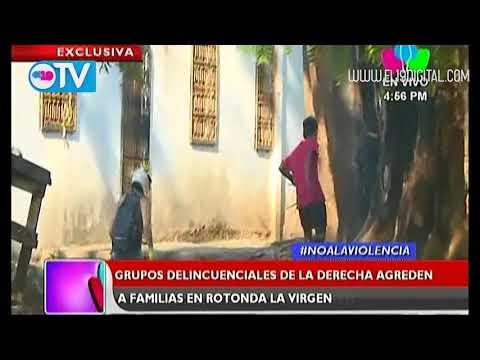 Atacan a población que pide el regreso de la paz en Rotonda La Virgen