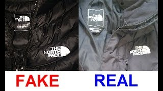 Real vs. Fake North Face jacket. How to spot counterfeit North Face