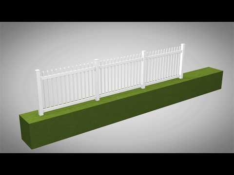 Nantucket Vinyl Picket Fence Kit Assembly & Installation