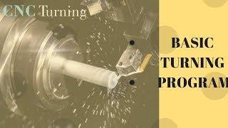 TURNING PROGRAM FOR CNC LATHE MACHINE FANUC (OiT)
