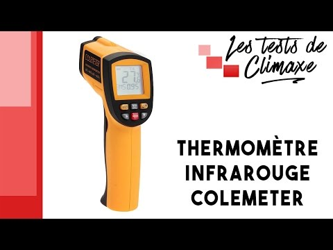 Test d'un thermomètre infrarouge Colemeter