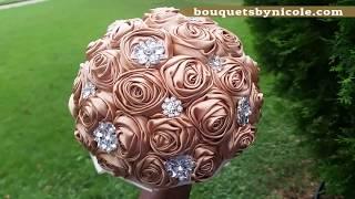 $39.99 #1 Easy DIY Brooch Bouquet L No Wires L Bouquet Tutorial L Wedding Project
