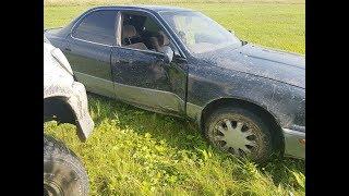 Увлеклись съемками и поймали дерево на Toyota Vista