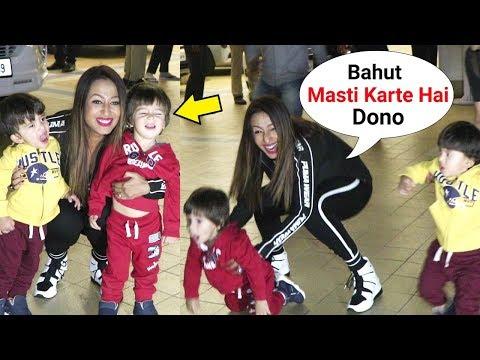 Krushna Abhishek And Kashmira Shah Twin Babies Cute Moments