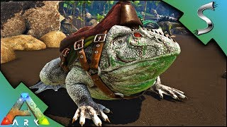 BEELZEBUFO TAMING! HUNTING FOR CEMENTING PASTE WITH MY ALBINO FROG - Ark: Survival Evolved [S4E12]