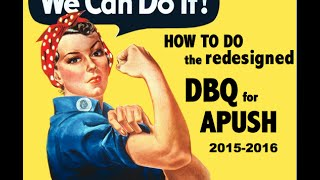 How to do the old DBQ for APUSH  (SEE NEW VIDEO BELOW)