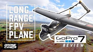 LONG RANGE FPV PLANE - $108 Skyhawk Fpv Plane - FULL REVIEW, FPV, and GOPRO HERO 7 Flights