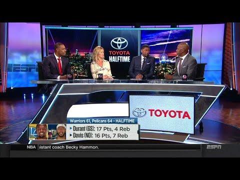 Warriors vs Pelicans Halftime Report   Oct 20, 2017