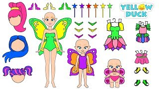 PAPER DOLLS FAIRIES MOTHER & DAUGHTERS CLOTHES SHOES & ACCESSORIES FOR GIRLS