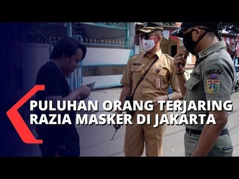 PPKM Diperpanjang, Puluhan Orang Terjaring Razia Masker di Wilayah Jakarta