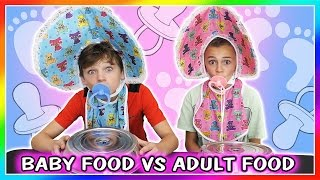 BABY FOOD VS ADULT FOOD SWITCH UP CHALLENGE | We Are The Davises