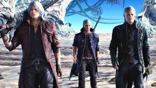 Devil May Cry 5 - Game Movie (All Cutscenes) 2019