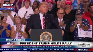 "MUST WATCH: Trump Says Arpaio Will be ""Just Fine"" and Hints of Possible Pardon - Phoenix Rally"