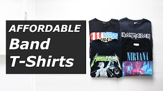 Affordable Band T Shirts | Vintage, Rock, Tour, Nirvana, Metallica, Summer 2016 | Gallucks