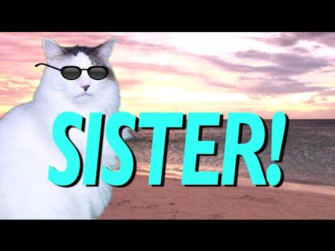 Titel: Happy Birthday Sister Epic Cat Happ