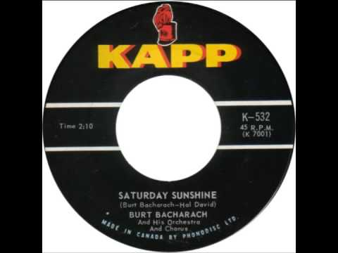 "Burt Bacharach -- ""Saturday Sunshine"" (Kapp) 1963"