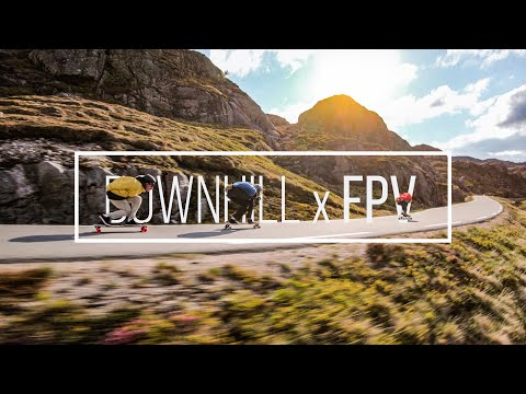 Chasing Longboarders with a Drone in Norway