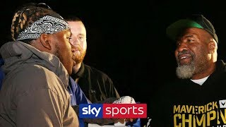 HEATED! KSI & Shannon Briggs clash during Logan Paul's open workout