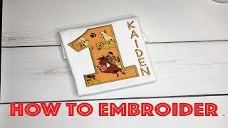 How To Embroider: Applique Number Shirt Tutorial Step By Step