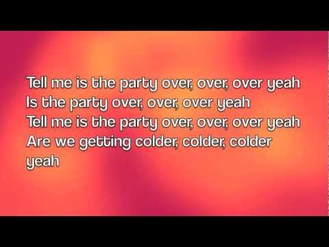 Amelia Lily - Party Over (Lyrics)