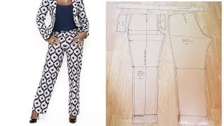 How To Sew A Trouser With Zipper And Waist Band | Women Trouser| Cutting And Sewing