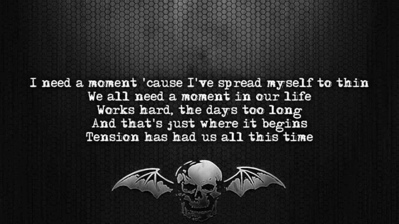 Avenged Sevenfold - Tension Lyrics - YouTube