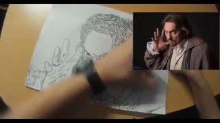 "Рисунок карандашом Михаил Горшенёв ""Король и Шут""."