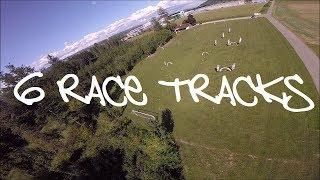 FPV drone racing 6 tracks