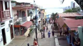 Guayaquil Old Town Walking Down