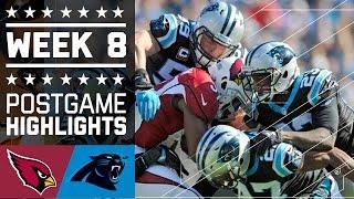 Cardinals vs. Panthers | NFL Week 8 Game Highlights