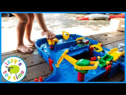 AQUAPLAY MEGA BRIDGE! Fun Family Outdoors Pretend Play with WATER!