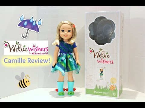 Wellie Wishers Camille Doll | American Girl Doll Review & Opening☔