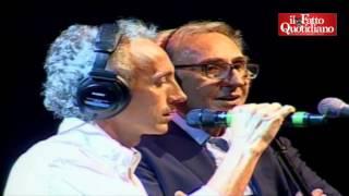 """M.Travaglio feat. F.Battiato - """"Prospettiva Nevski"""" (La Versiliana, Festa del Fatto Quotidiano)"""