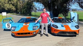 2019 Ford GT Vs 2006 Ford GT Head To Head Review! by Vehicle Virgins