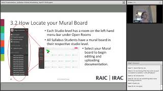 RAIC Syllabus Virtual Workshop April 2020