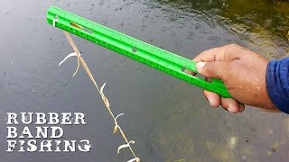 DIY Fishing with RUBBER BANDS!!