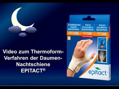 Epitact pharma | Thermoform-Anleitung starre Daumenbandage NACHT