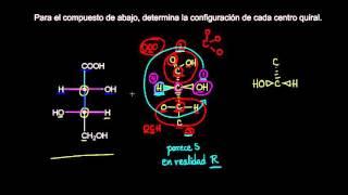 Práctica de proyecciones de Fischer | Estereoquímica | Química orgánica | Khan Academy en Español